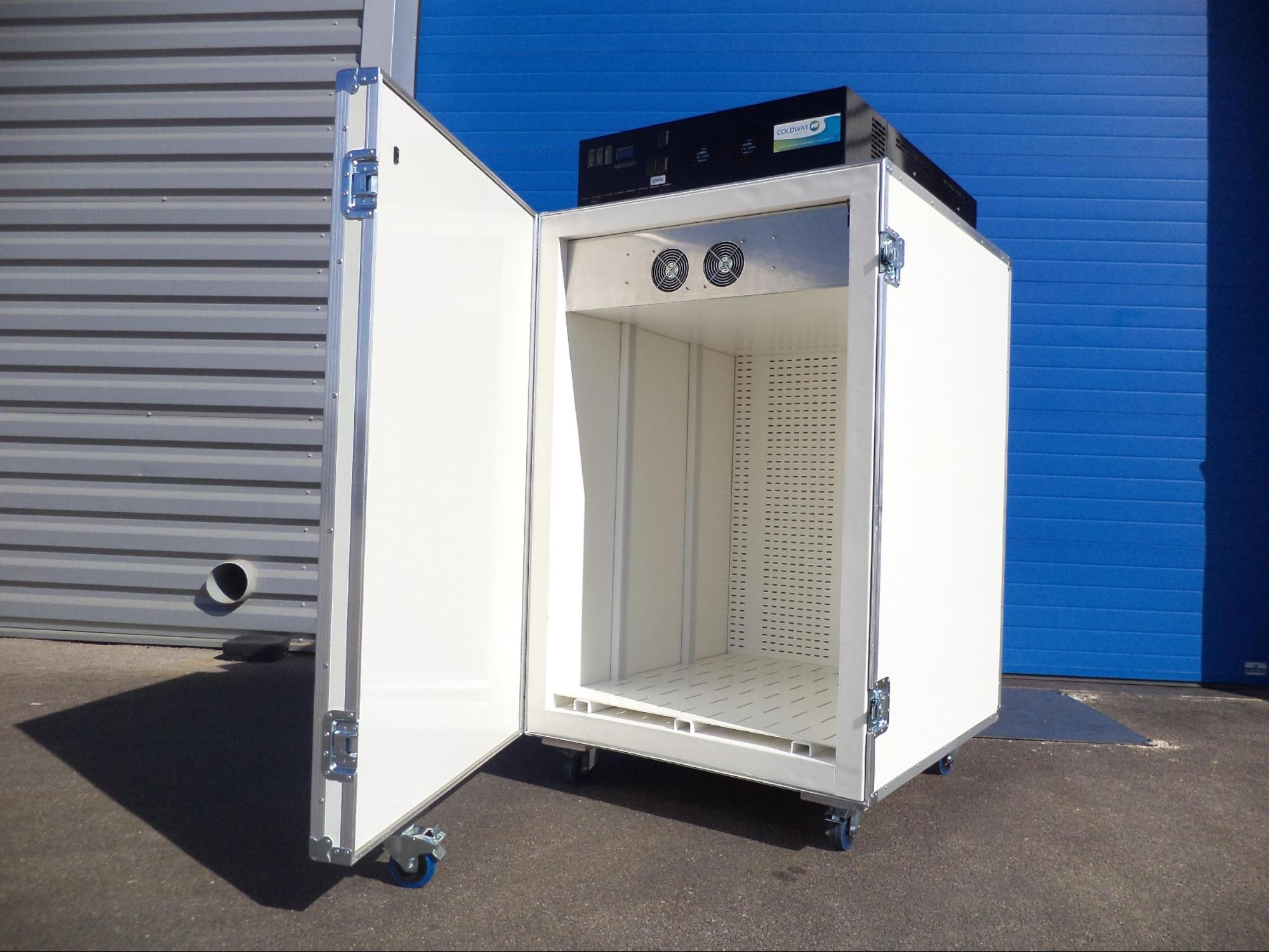 reusable pharmaceutical refrigerated container, durable insulated pallet shipper